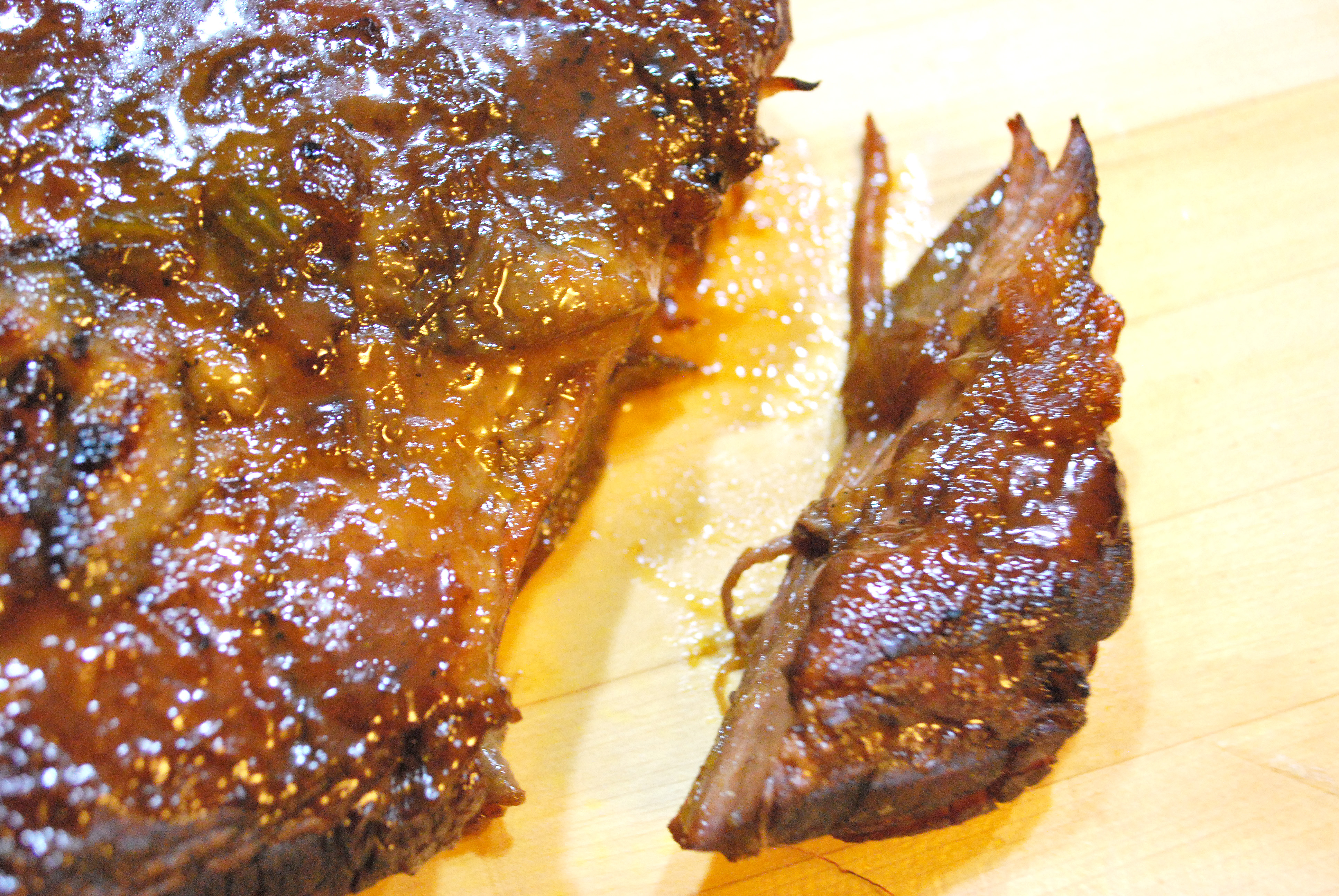 Braised Beef Brisket with Bourbon-Peach Glaze | Hungry Beats